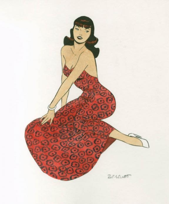 Pin Up by Philippe Berthet - Illustration