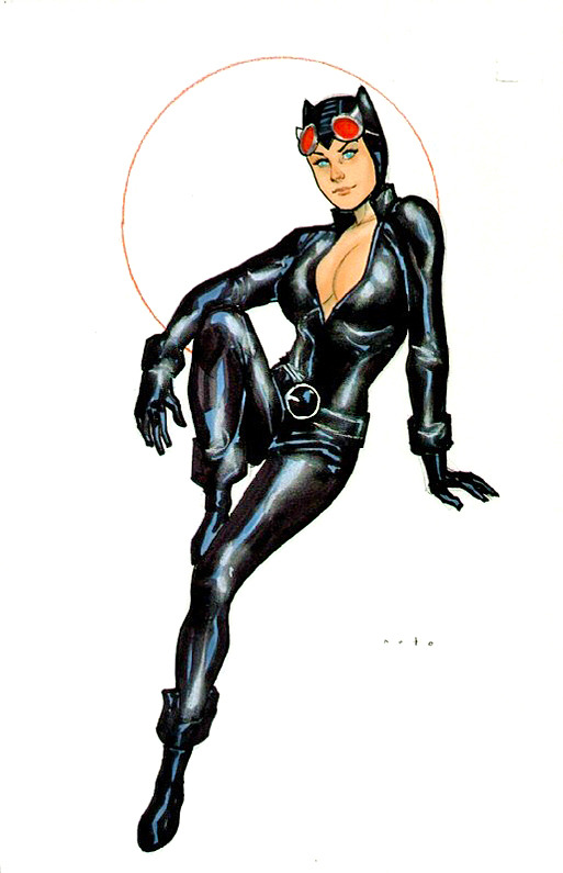 Catwoman par Phil Noto by Phil Noto - Original art