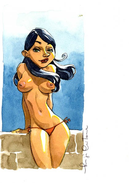 Pin-up de Critone par Luigi Critone - Illustration