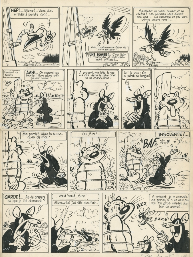 1954 chlorophylle les rats noirs par raymond macherot. Black Bedroom Furniture Sets. Home Design Ideas