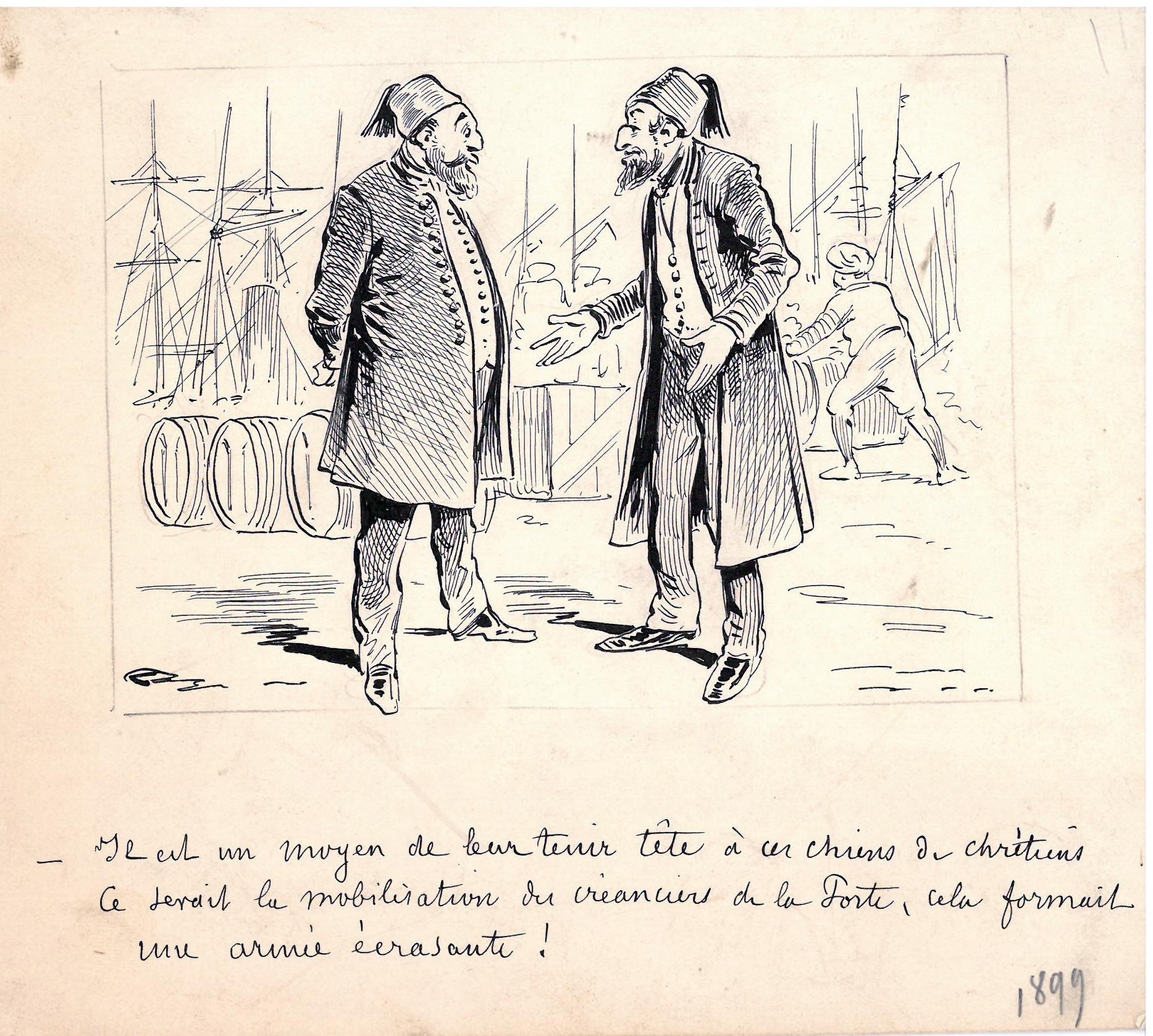 Ancien dessin humoristique sur la dette publique par - Dessin 4x4 humoristique ...