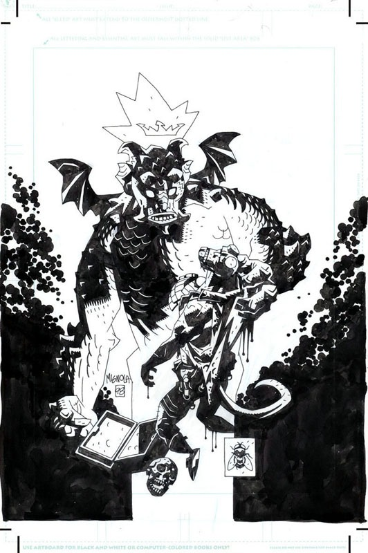 Hellboy, Full Box of Evil Cover by Mike Mignola - Original Cover