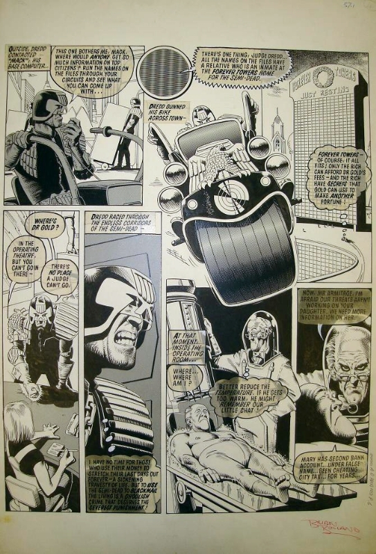 Judge Dredd - The Forever Crimes by Brian Bolland - 2000AD Prog 120 by Brian Bolland - Comic Strip