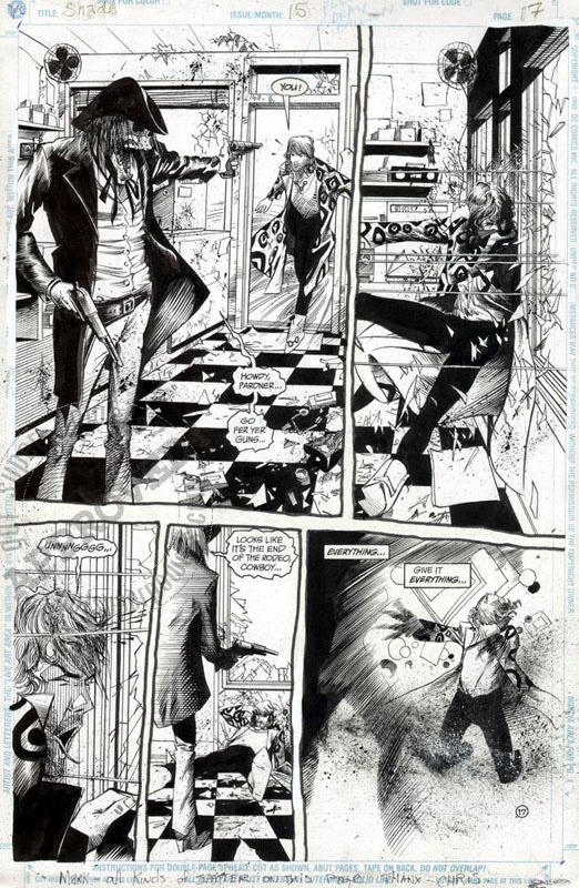 Bachalo: Shade: The Changing Man 15 page 17 by Chris Bachalo, Mark Pennington - Original art