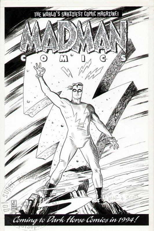 Allred: Madman Comics advert art by Mike Allred - Illustration