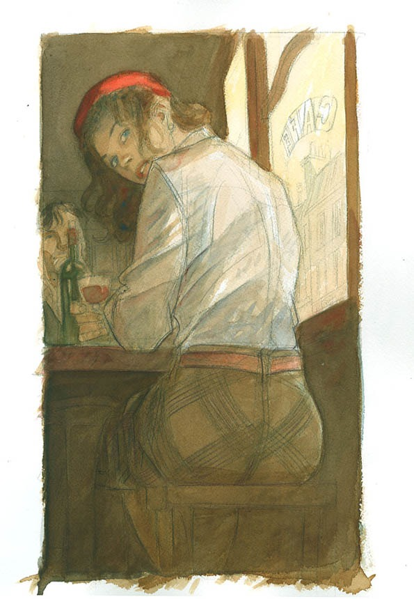 2c2dac55baac07 Jeanne - dessin du portfolio Eté comme Hiver par Jean-Pierre Gibrat -  Illustration