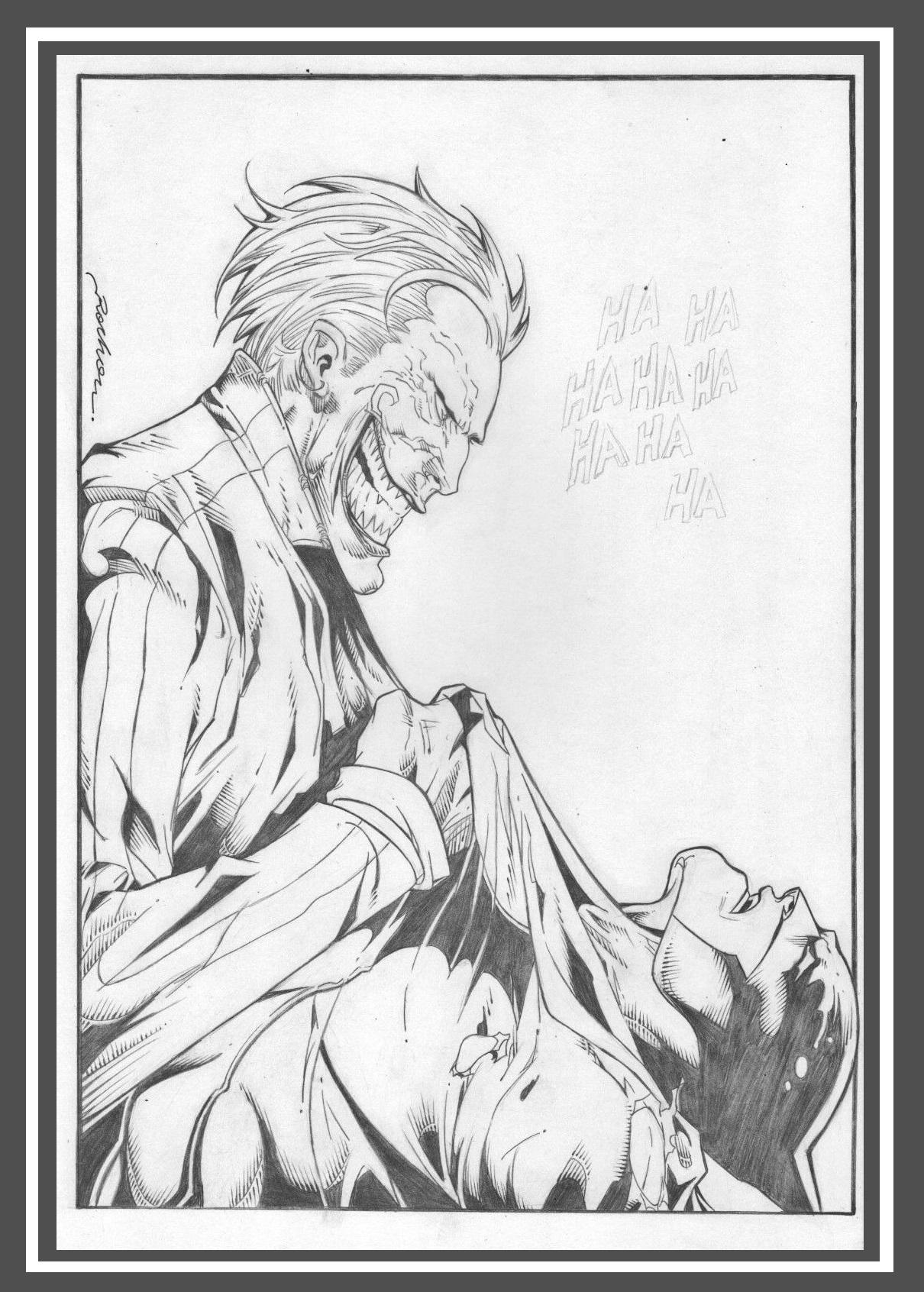 Dessin Original Crayonne Joker Vs Batman Par Rocha By Rocha