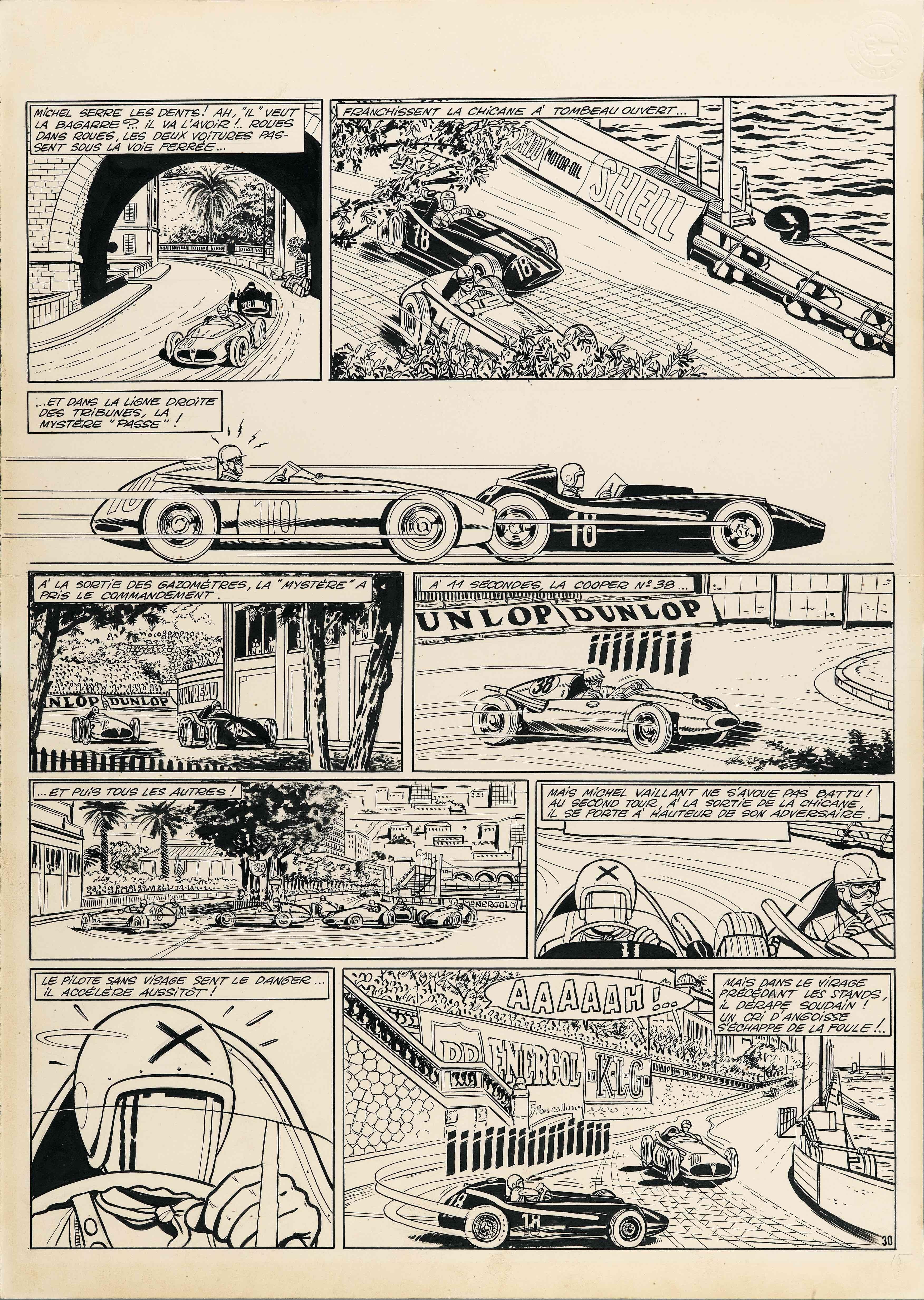 Michel Vaillant - Le Pilote Sans Visage - PL30 Jean Graton