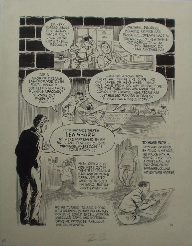 Will Eisner - The dreamer - page 22 - Lou Fine by Will Eisner - Comic Strip