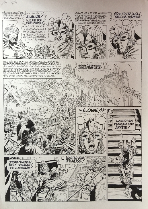 For sale - Chroniques Barbares T3 - P23 by Jean-Yves Mitton - Comic Strip