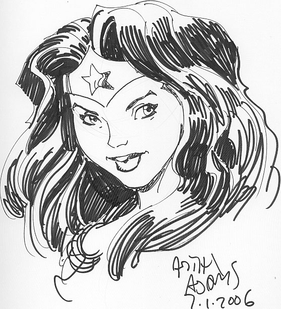 Arthur Adams Wonder Woman by Art Adams - Sketch