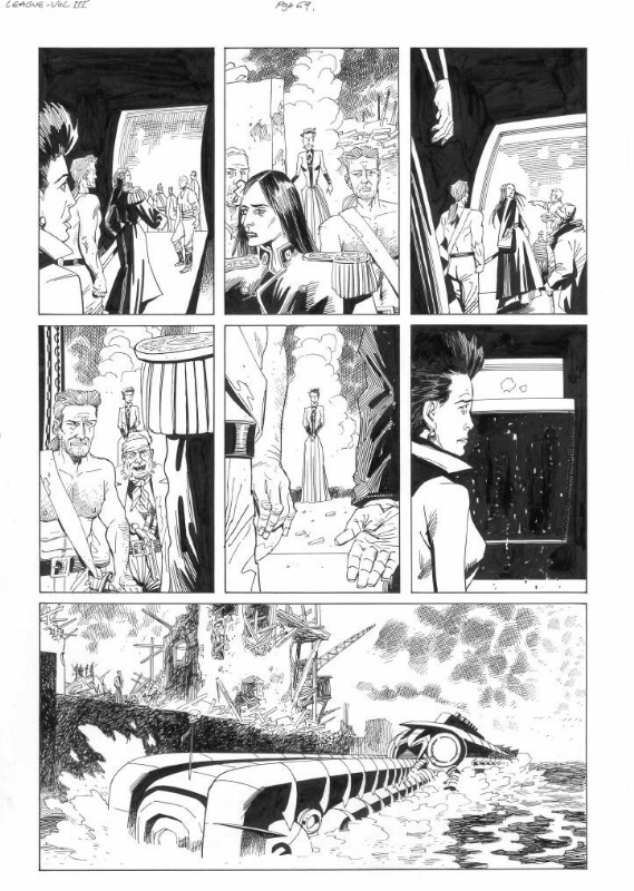 League of Extraordinary Gentlemen Century 1910 page 69 by Kevin O'Neill, Alan Moore - Comic Strip