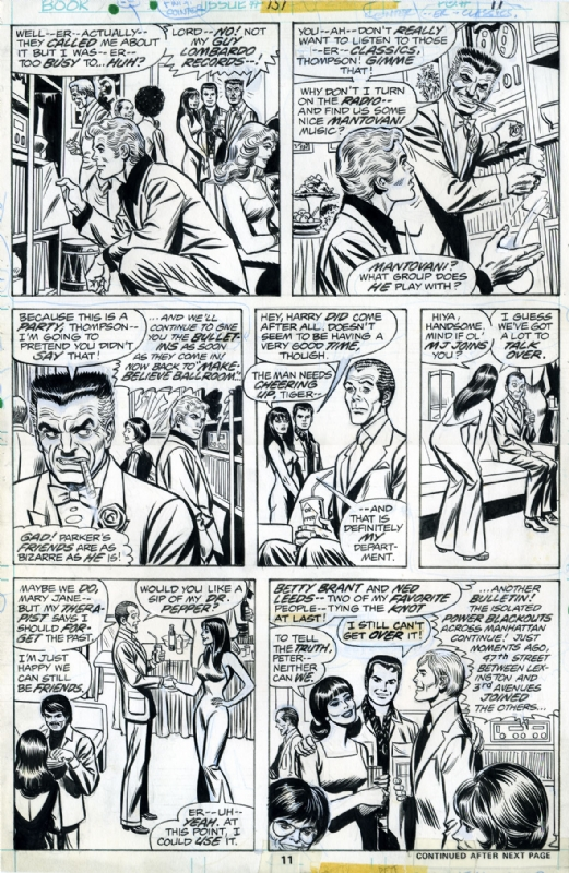 Amazing Spiderman - peter mary jane JJ jameson Flash Harry betty... by John Romita Sr., Ross Andru - Comic Strip