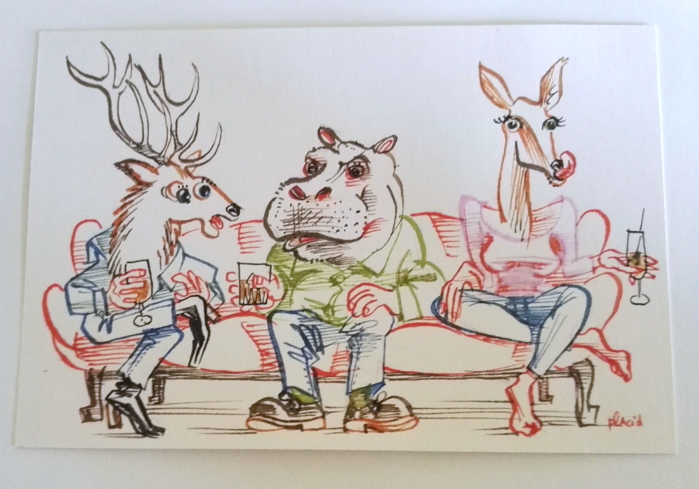 je biche pour le canapé d'yves !! petit dessin placid par placid