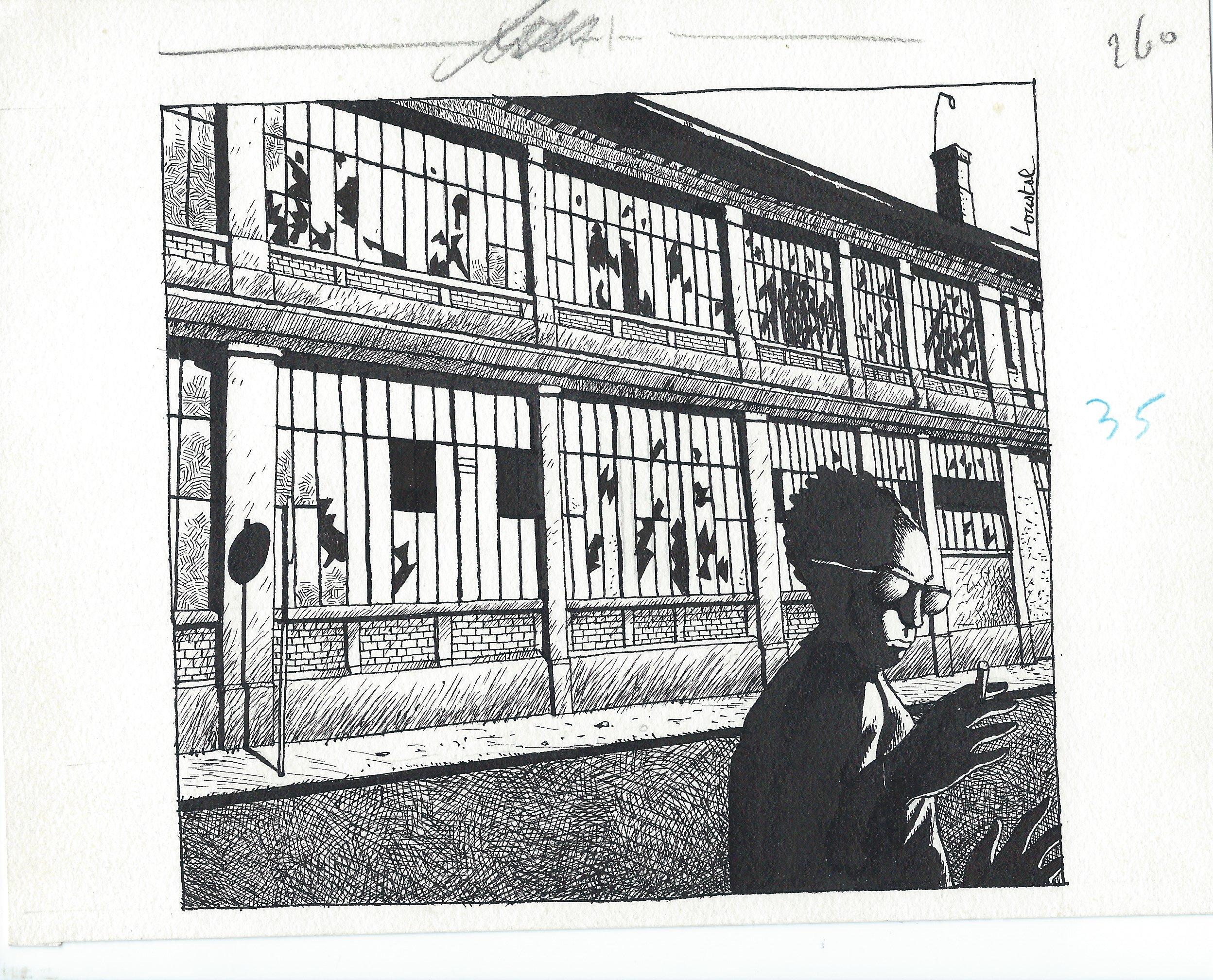 majid aimait bien le bruit de l 39 atelier d 39 tirage dommage que l 39 usine soit ferm e par loustal. Black Bedroom Furniture Sets. Home Design Ideas