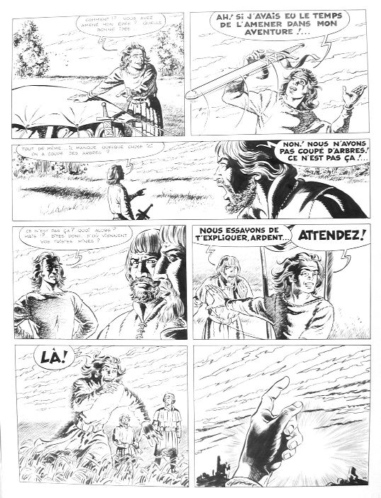 Chevalier Ardent - La Princesse Captive Page 44 by François Craenhals - Comic Strip