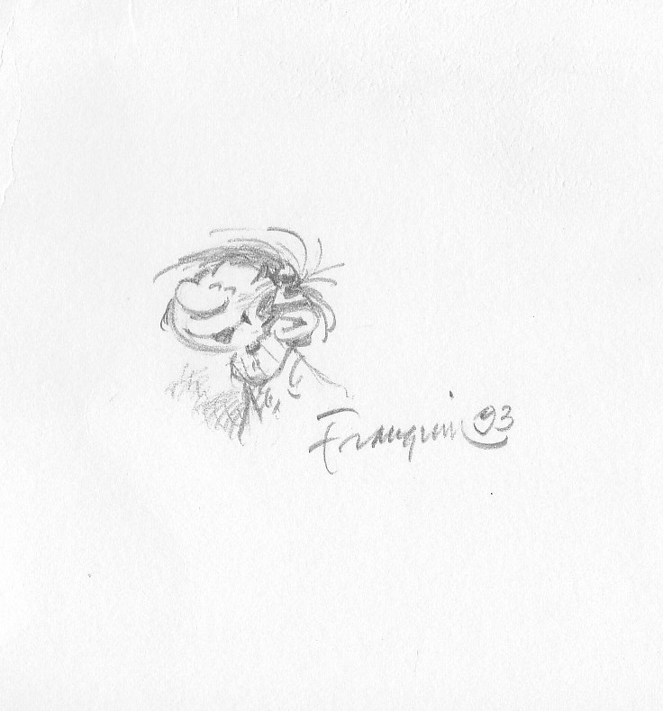 Gaston by André Franquin - Sketch
