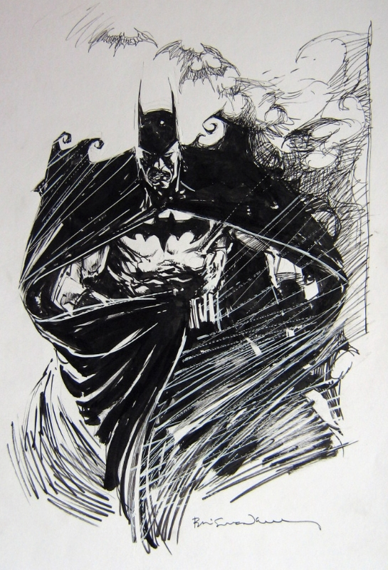 Batman by Bill Sienkiewicz - Illustration