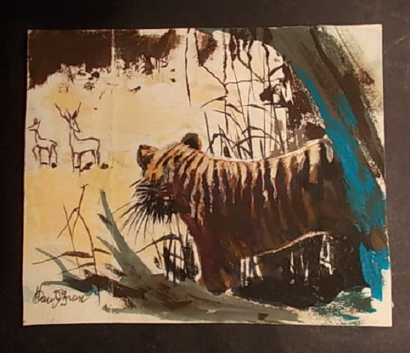 Spirou Nature : Le Tigre des Indes, 1959. by René Hausman - Illustration