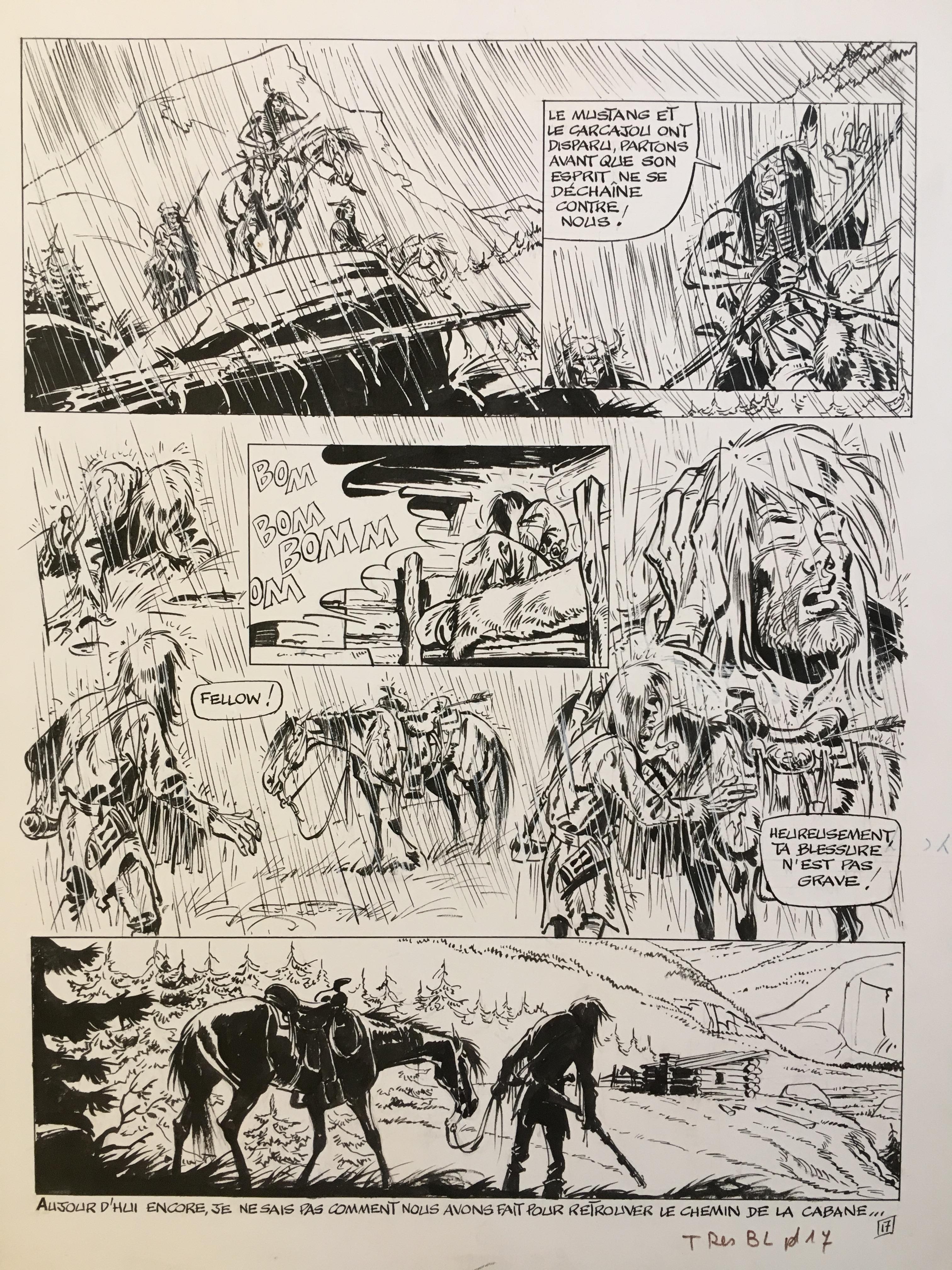 Buddy Longway - L'ennemi (t.2, pl.17) par Derib - Planche originale