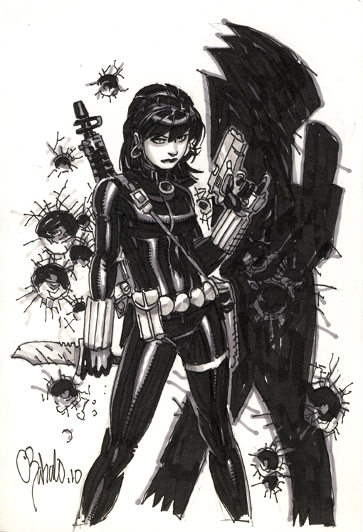 Black Widow by Chris Bachalo by Chris Bachalo - Sketch