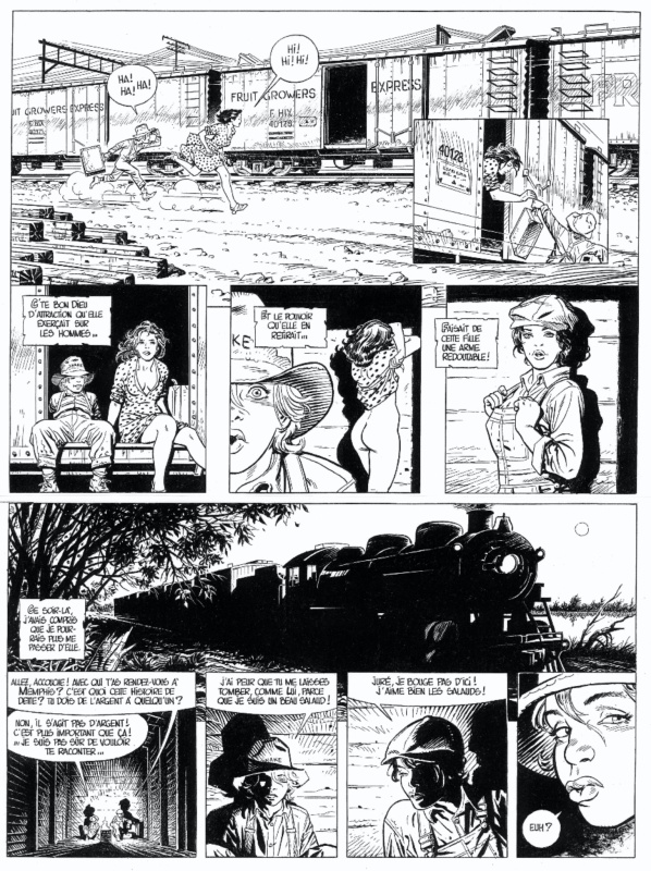 Cuzor, O'Boys Tome 3, Midnight Crossroad, planche n°7, 2012. by Steve Cuzor, Stéphane Colman - Comic Strip