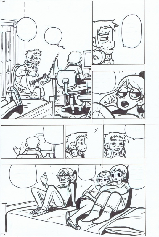 Scott Pilgrim - Vol 4 - Page 74 par Bryan Lee O'Malley - Planche originale