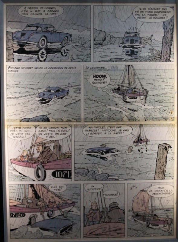 Gil Jourdan - La Voiture Immergée pl. 2 by Maurice Tillieux - Comic Strip