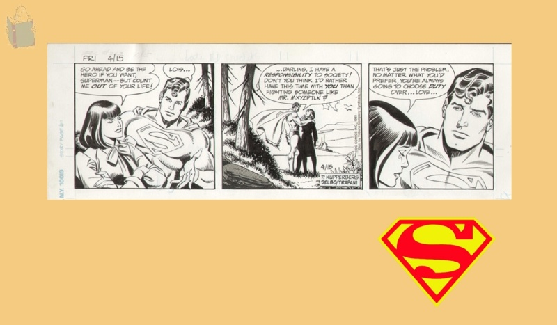 SUPERMAN by José Delbo, Sal Trapani - Comic Strip