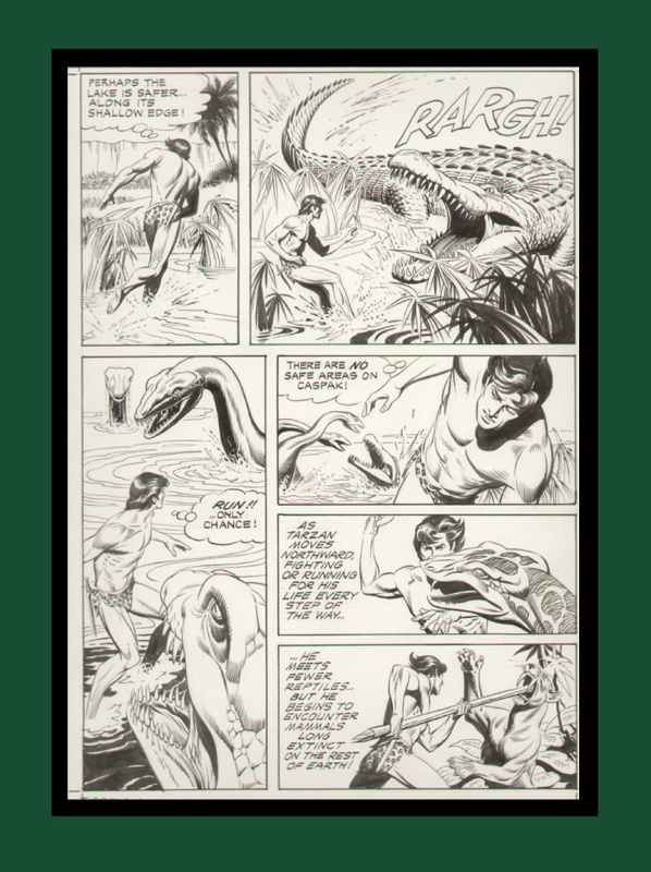 TARZAN  l'Ile hors du Temps by Russell Manning - Comic Strip