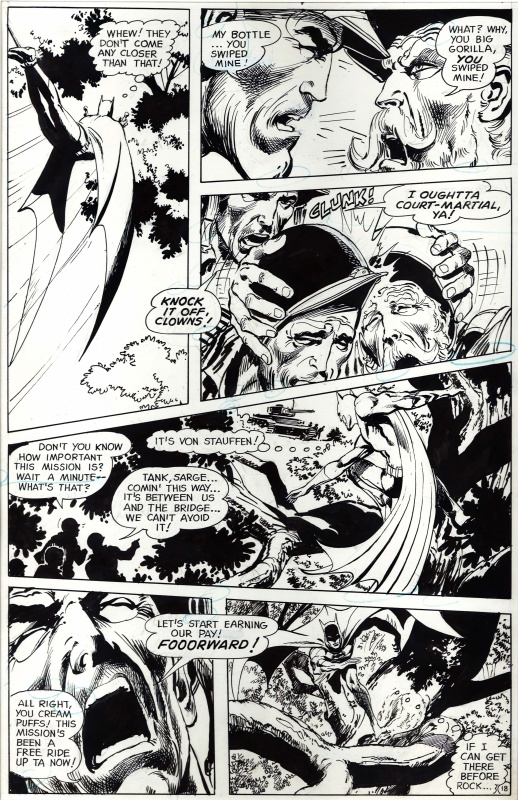 Brave and the Bold # 84 p.18 . Batman et Sgt. Rock . by Neal Adams - Comic Strip