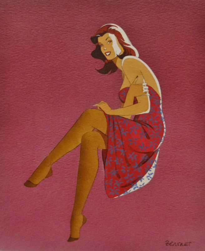 Pin-Up by Philippe Berthet - Illustration