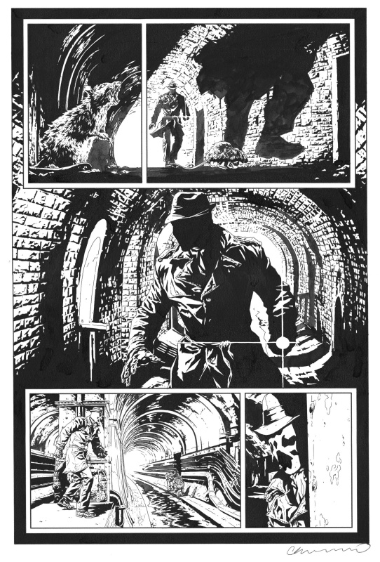 Before Watchmen - Rorschach par Lee Bermejo - Planche originale