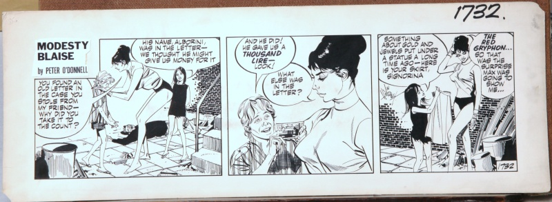 Modesty BLAISE - The Red Gryphon - 1968/1969 by Jim Holdaway, Peter O'Donnell - Comic Strip