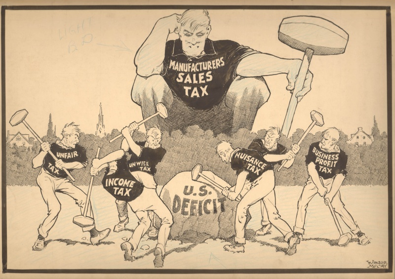 U.S. deficit by Winsor McCay - Illustration