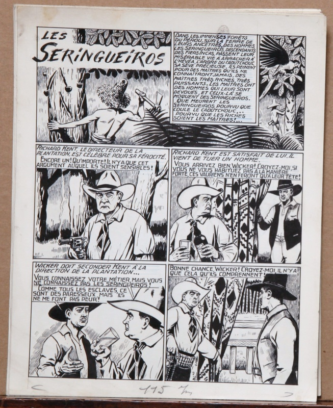 Los SERINGUEIROS - camera 34 # 20 - 1er Février 1950 by Raymond Cazanave - Comic Strip