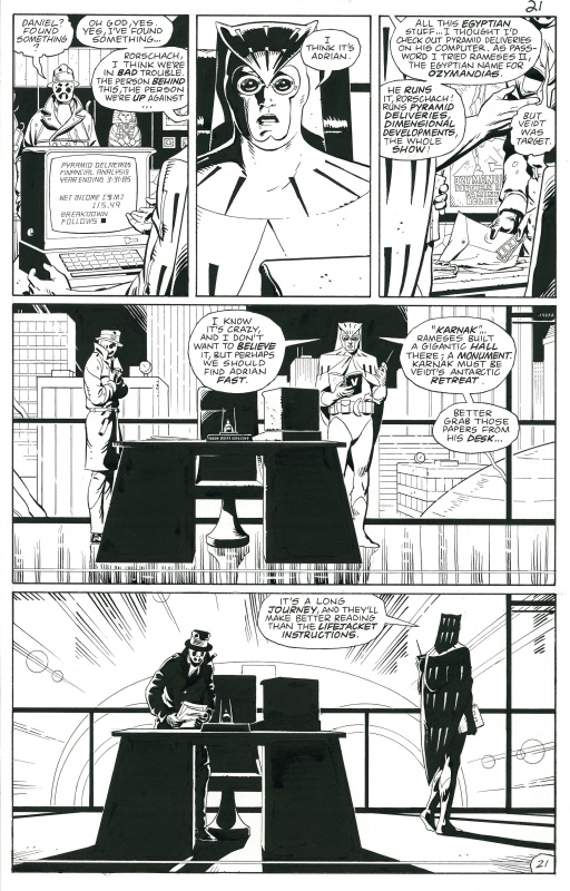 Watchmen, Issue 10 page 21 by Alan Moore, Dave Gibbons - Comic Strip