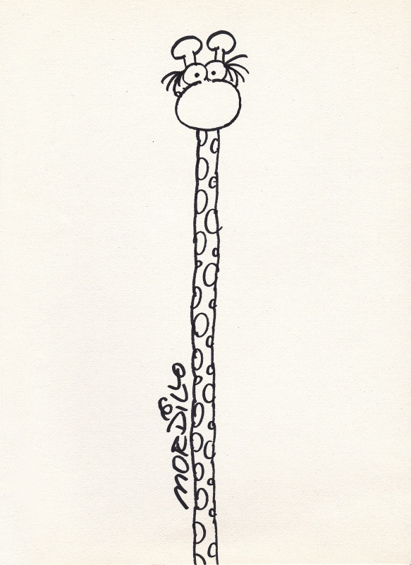 Girafe by Guillermo Mordillo - Sketch
