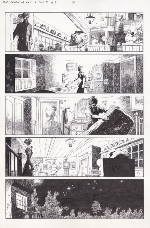 The League of Extraordinary Gentlemen #2 par Kevin O'Neill, Alan Moore - Planche originale
