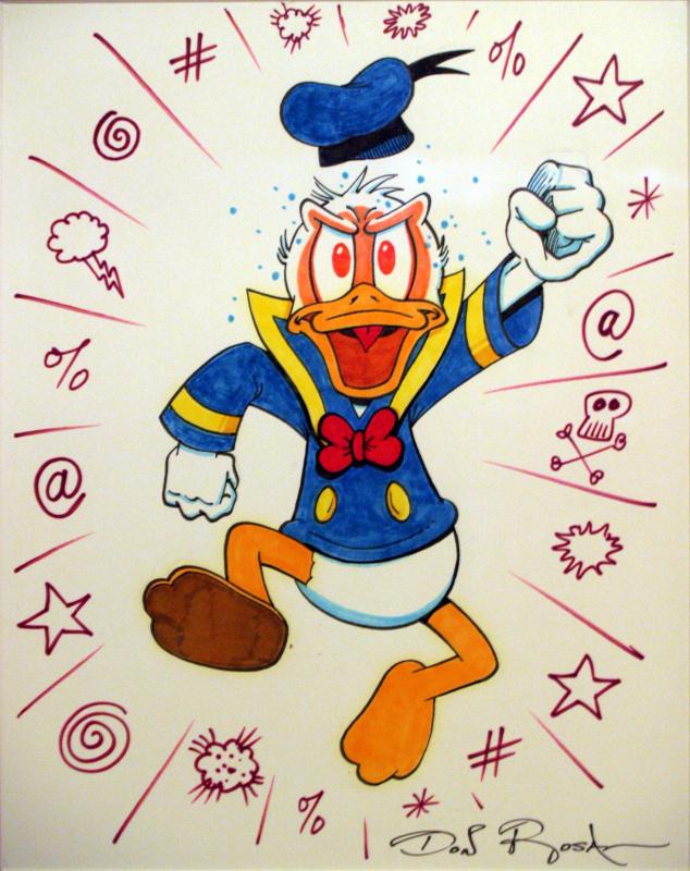 Donald en colère par Don Rosa - Illustration