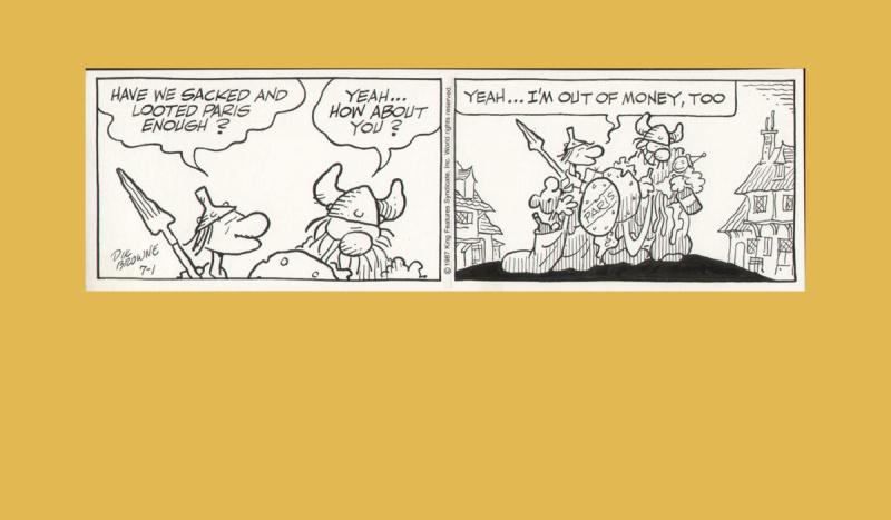 Hagar Du Nord By Dik Browne Comic Strip