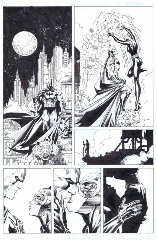Batman #610 p21(Hush) par Jim Lee, Scott Williams - Planche originale