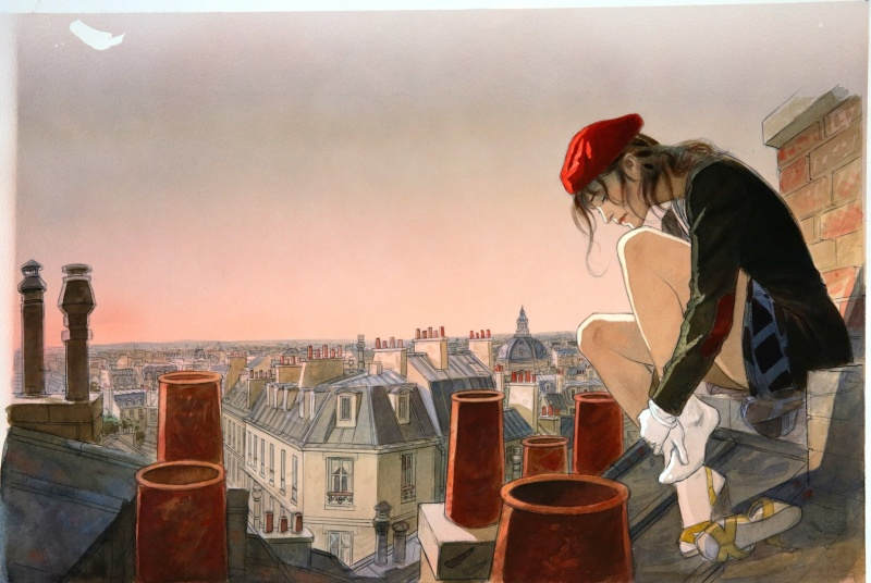 Le Vol du corbeau par Jean-Pierre Gibrat - Planche originale