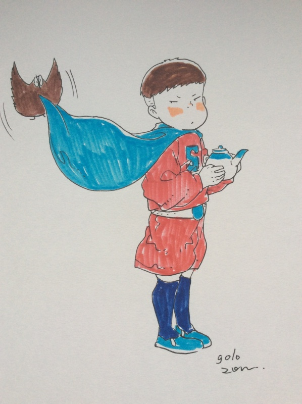 Super Tea-Boy by Golo - Sketch