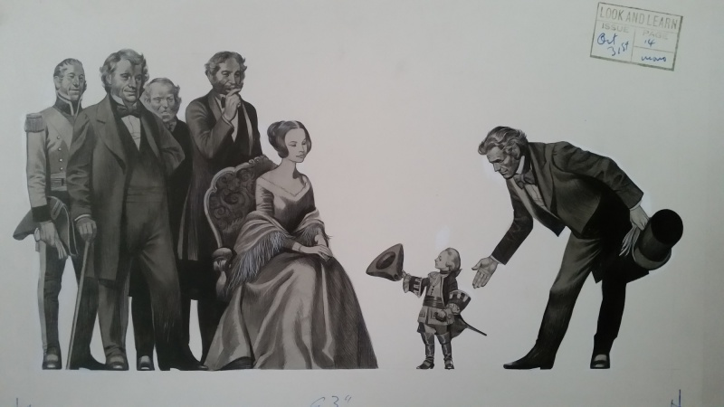 Tom Thumb meets Queen Victoria by Ron Embleton - Illustration