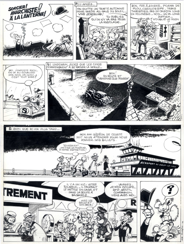 Robbedoes en Kwabbernoot - Spirou et Fantasio by Jean-Claude Fournier - Comic Strip