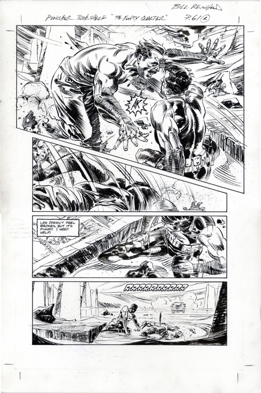 Punisher: Empty QUARTER p.61 BILL REINHOLD 1994 SOLD by Bill Reinhold, Mike Baron - Comic Strip