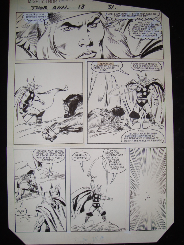 Thor by John Buscema, Alan Zelenetz - Comic Strip