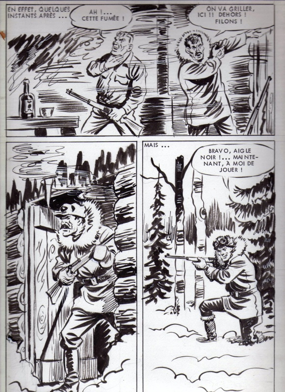 Sam Boyd, la longue poursuite, pl 40. Ajax n°36, novembre 1967, SFPI by Maxime Roubinet - Comic Strip
