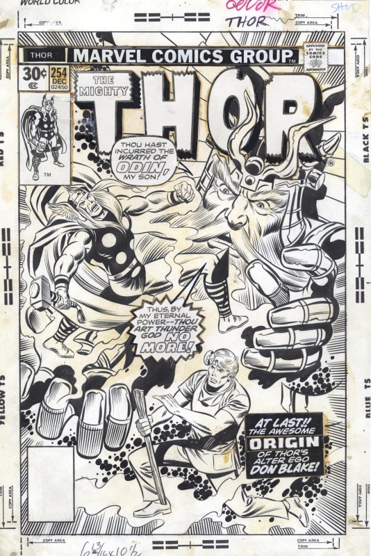 Thor Cover, Issue 254 by Rich Buckler, Joe Sinnott - Original Cover
